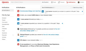 Affiliate Marketing on Quora using the notifications