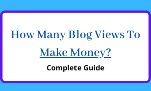 How many blog views to make money?